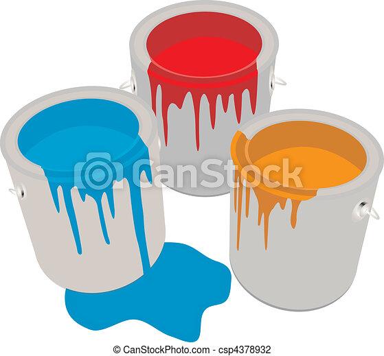 Paint Cans - csp4378932