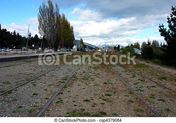 Bariloche train rails - csp4379084