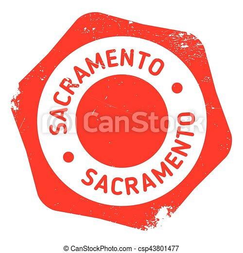 Sacramento stamp rubber grunge - csp43801477