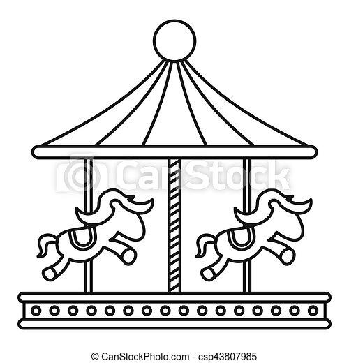 Stock Illustratie Van Paarden Stijl Schets Ouderwetse