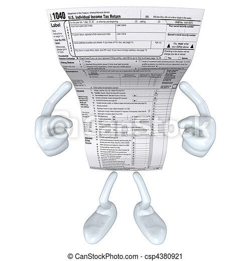 1040 Tax Man  - csp4380921