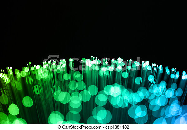 Fiber optics background with lots of light spots - csp4381482