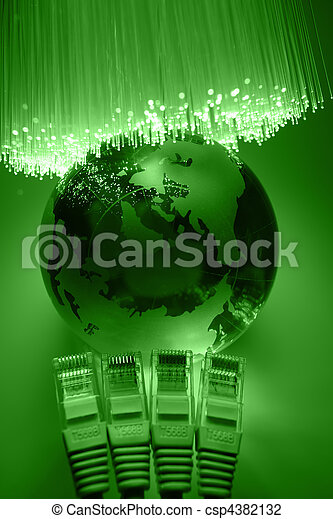 Fiber optics background with lots of light spots - csp4382132