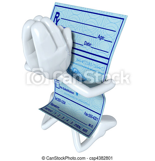 Medical Prescription Praying  - csp4382801