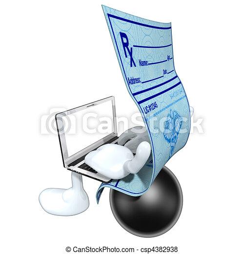 Medical Prescription Online  - csp4382938