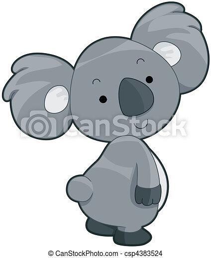 cartoon baby koala