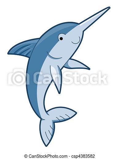 Cute Swordfish - csp4383582