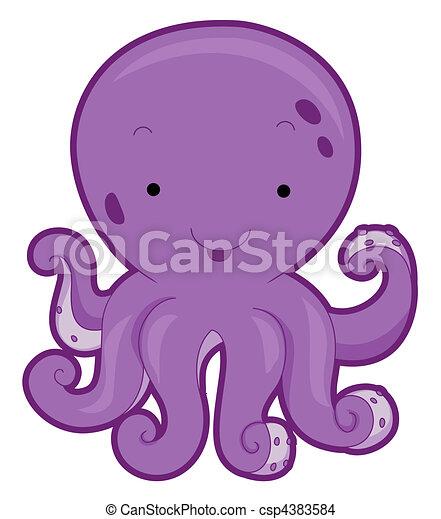 simple octopus vector