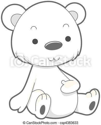 Cute polar bear drawings - photo#19