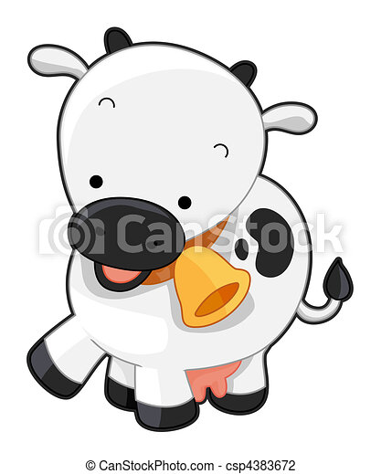 Cute Cow - csp4383672