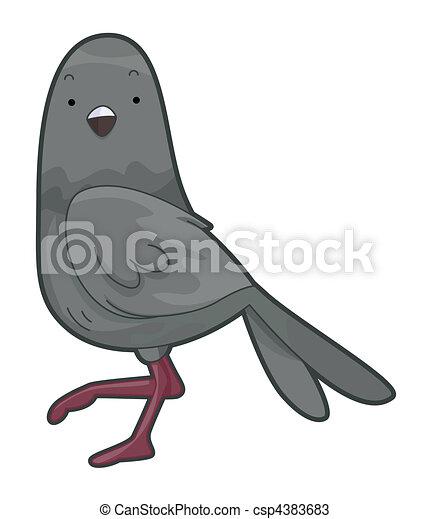 Dessins de mignon pigeon cute pigeon csp4383683 recherchez des illustrations clipart et - Dessin de pigeon ...
