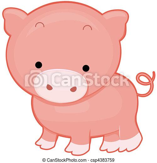 Cute Pigs Drawing Cute Pig Csp4383759