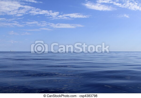 blue sea horizon ocean perfect in calm - csp4383798