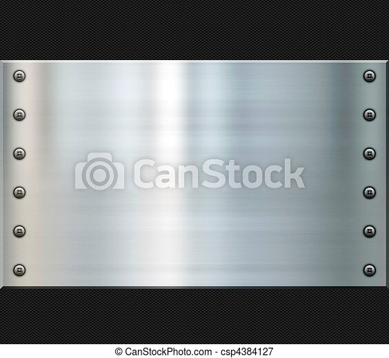 steel and carbon fiber background - csp4384127