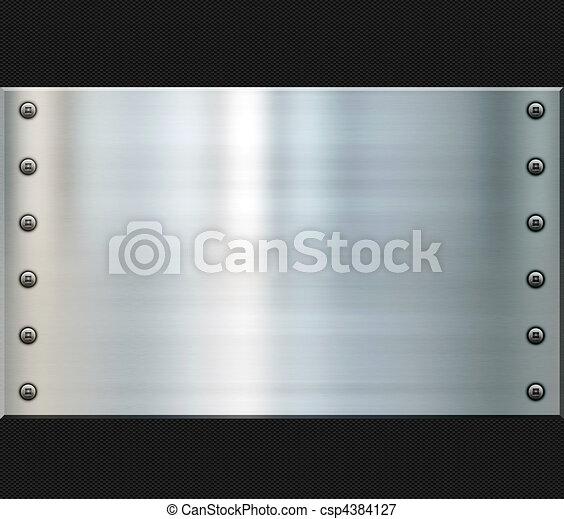 steel and carbon fiber background - csp4384127