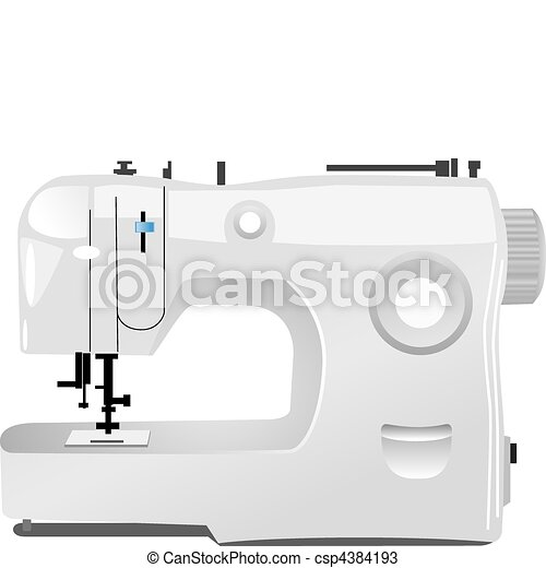 modern sewing machine vector - csp4384193