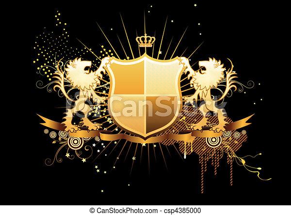 heraldic shield - csp4385000
