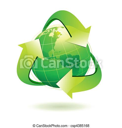 recycle symbol - csp4385168