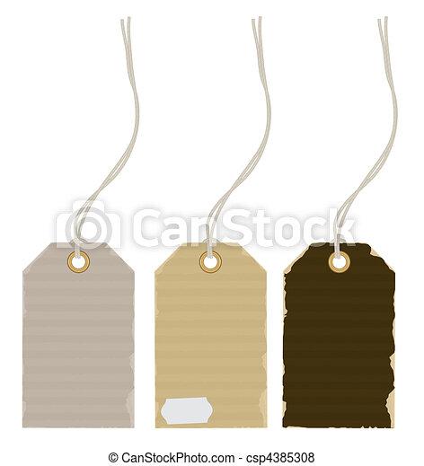 price tags - csp4385308