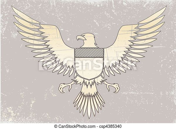 coat-of-arms bird - csp4385340