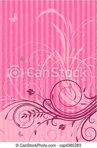 Floral Decorative background - csp4385383