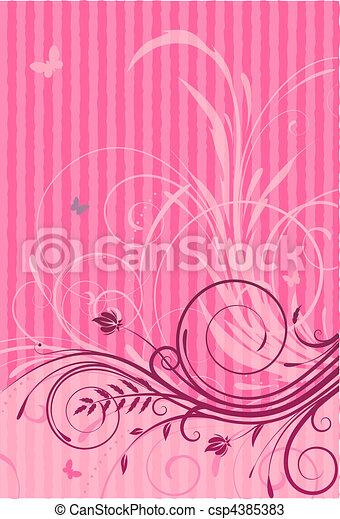 Floral Decorative background - csp4385383