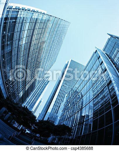 Canary Wharf, London. - csp4385688