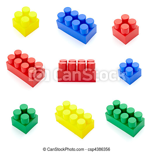 toy lego block construction education childhood - csp4386356