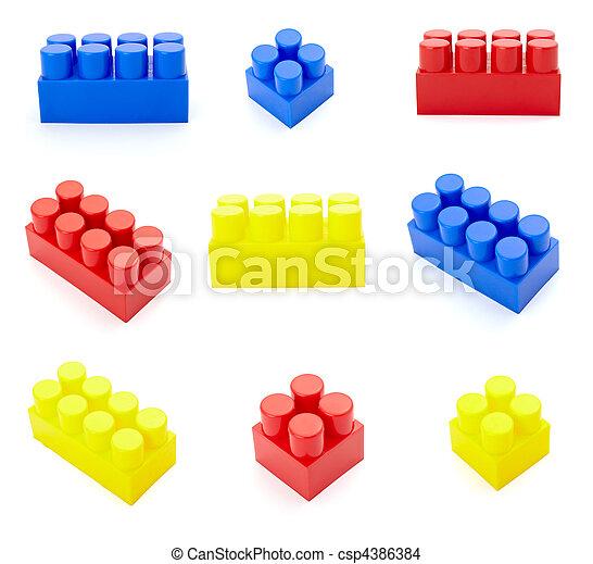 toy lego block construction education childhood - csp4386384