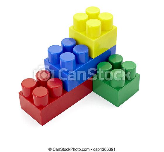 toy lego block construction education childhood - csp4386391