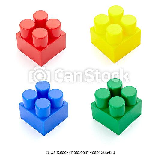 toy lego block construction education childhood - csp4386430