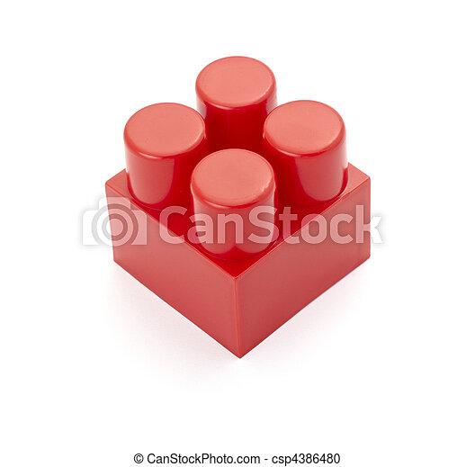 toy lego block construction education childhood - csp4386480