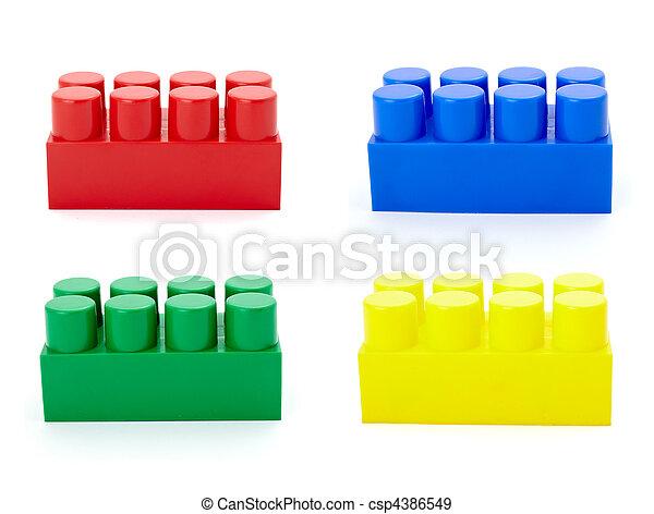 toy lego block construction education childhood - csp4386549