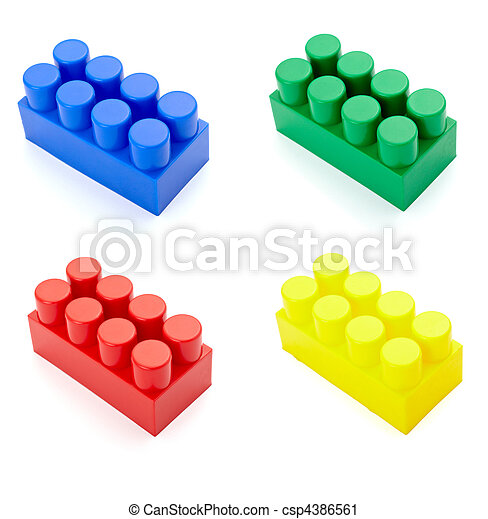 toy lego block construction education childhood - csp4386561