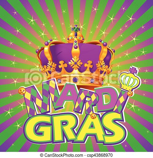 Mardi Gras Crown - csp43868970
