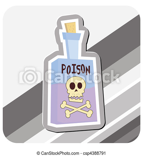 Bottle of Poison Illustration - csp4388791