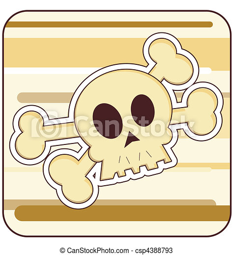 Skull & Crossbones Illustration - csp4388793