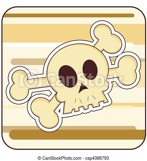 Skull & Crossbones Illustration - csp4388793