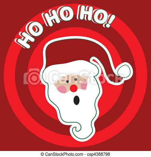 HO HO HO! - Santa Claus - csp4388798