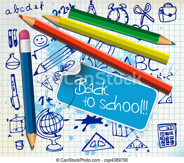 Back to school poster - csp4389790