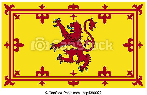 Royal Scottish flag or Standard - csp4390077