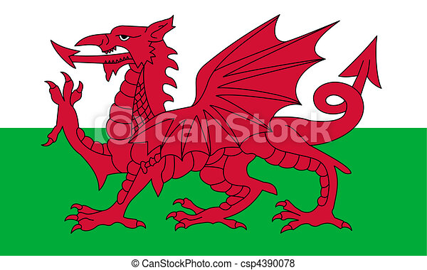 Wales Flag - csp4390078