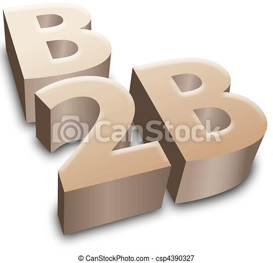 B2B symbol e-business business - csp4390327