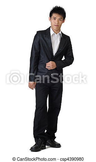 stock photo tall full body portrait standing
