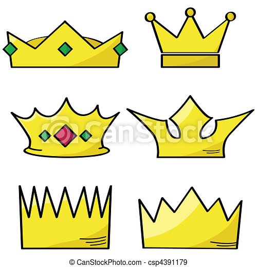 Cartoon crowns - csp4391179
