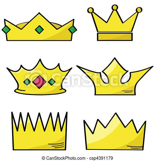 Cartoon crowns - csp4391179