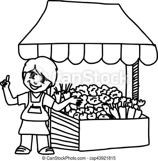 Vector clip art of illustation vector hand drawn doodle of for How to sell drawings online