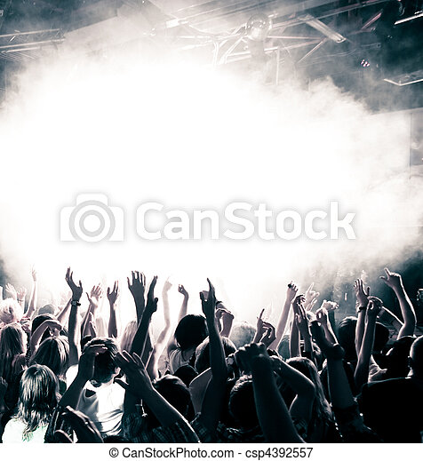 Concert crowd - csp4392557