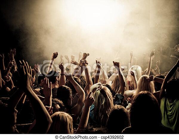 Music fans - csp4392602