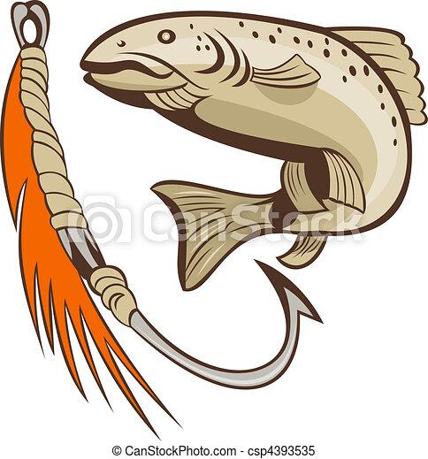 Illustrations de leurre app t fish crochet peche - Dessin truite ...